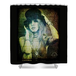 Stevie Nicks - Bohemian Shower Curtain by Absinthe Art By Michelle LeAnn Scott