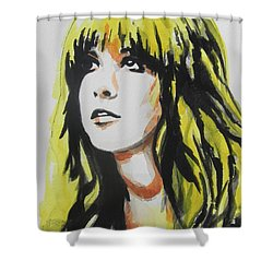 Stevie Nicks 01 Shower Curtain by Chrisann Ellis