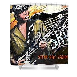 Stevie Ray Vaghn Shower Curtain by Larry E Lamb