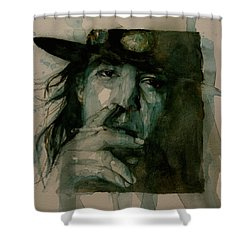 Stevie Ray Vaughan Shower Curtain by Paul Lovering