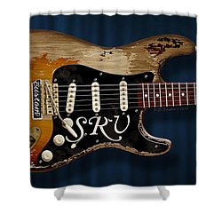 Stevie Ray Vaughan Stratocaster Shower Curtain