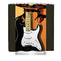 Stevie Ray Vaughan Shower Curtain by Larry Butterworth