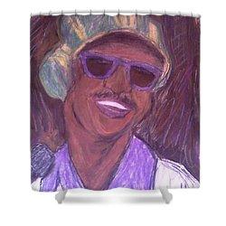 Stevie Wonder 2 Shower Curtain by Christy Saunders Church