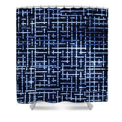 Stick Labyrinth Shower Curtain by Hakon Soreide
