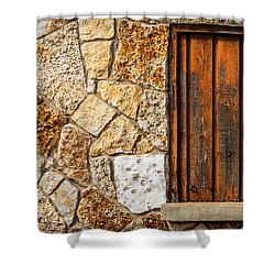 Sticks And Stone Shower Curtain by Melinda Ledsome