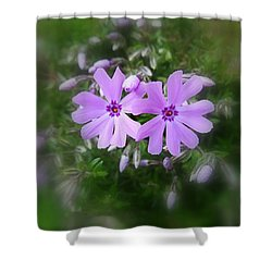 Sticky Phlox Shower Curtain
