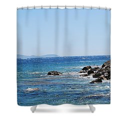 Shower Curtain featuring the photograph Stiff Breeze by George Katechis