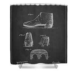 Stiffner For Boots And Shoes Patent Drawing From 1880 Shower Curtain by Aged Pixel