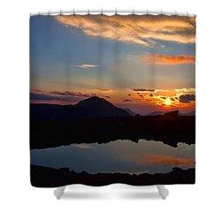 Still Shower Curtain by Jim Garrison