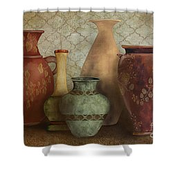 Still Life-a Shower Curtain by Jean Plout