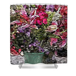 Shower Curtain featuring the digital art Still Life Floral by David Lane