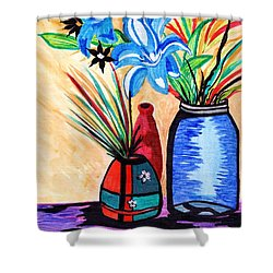 Still Life Flowers Shower Curtain by Connie Valasco