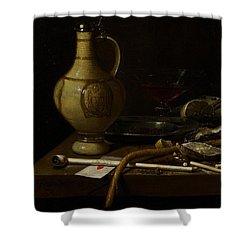 Still Life Shower Curtain by Jan Jansz van de Velde