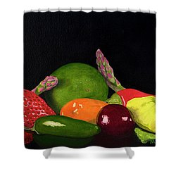 Still Life No. 3 Shower Curtain by Mike Robles