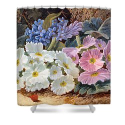 Still Life Of Flowers Shower Curtain by Oliver Clare