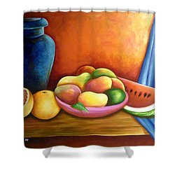 Still Life Of Fruits Shower Curtain