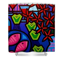 Still Life With Apples Shower Curtain by John  Nolan