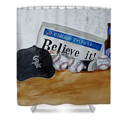 Still Life With Autograph Baseballs Shower Curtain