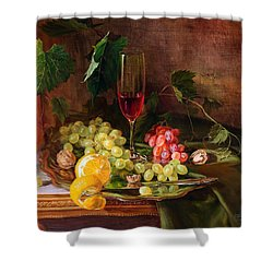 Still Life With Grapes And Grapevine Shower Curtain