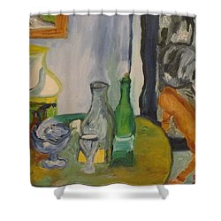 Still Life  With Lamps Shower Curtain