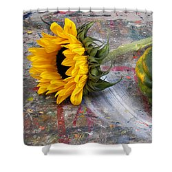 Still Life With Sunflower Shower Curtain