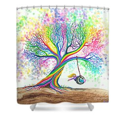 Still More Rainbow Tree Dreams Shower Curtain