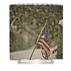 Still Remembered Shower Curtain by Trish Tritz