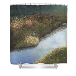 Still Water Shower Curtain by Ginny Neece
