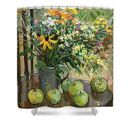 Stilllife With Apples Shower Curtain