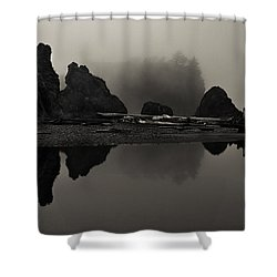 Stillness At Ruby Beach Shower Curtain