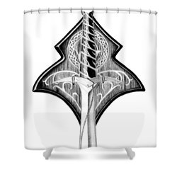 Sting Shower Curtain by Kayleigh Semeniuk