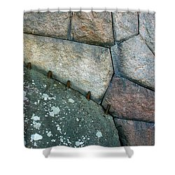 Stitched Stones Shower Curtain