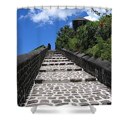 St.kitts - Ascent Shower Curtain by HEVi FineArt