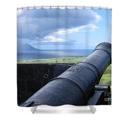 St.kitts Nevis - On Guard Shower Curtain