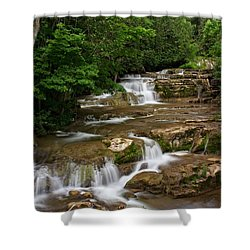 Shower Curtain featuring the photograph Stockbridge Falls by Dave Files