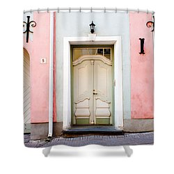Stockholm Doorway Shower Curtain by Thomas Marchessault