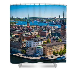 Stockholm From Above Shower Curtain