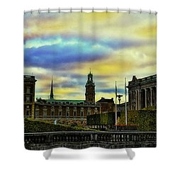Stockholm II Shower Curtain by Ramon Martinez