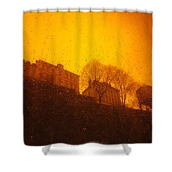 Stockholm The Heights Of South In Silhouette Shower Curtain