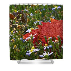 Shower Curtain featuring the photograph Stocking Up For The Winter by Gary Holmes