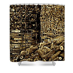 Stockpile  Shower Curtain by Chris Berry