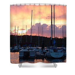 Shower Curtain featuring the photograph Stockton Sunset by Deena Stoddard
