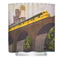 Stone Arch Bridge Shower Curtain by Jude Labuszewski