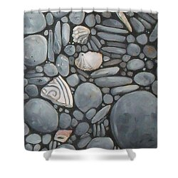 Stone Beach Keepsake Rocky Beach Shells And Stones Shower Curtain