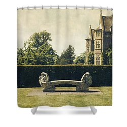 Stone Bench Shower Curtain by Joana Kruse