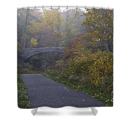 Stone Bridge In Autumn 3 Shower Curtain