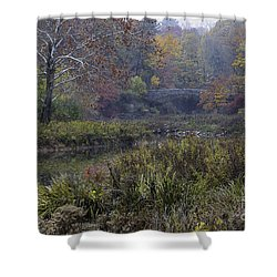 Stone Bridge In Autumn I Shower Curtain