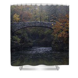 Stone Bridge In Autumn II Shower Curtain