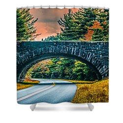 Stone Bridge Shower Curtain