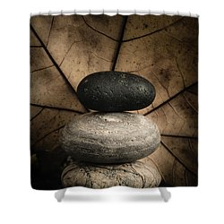 Stone Cairns II Shower Curtain